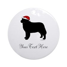 Berner Santa - Your Text Ornament (Round)