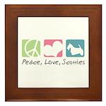 Peace, Love, Scotties Framed Tile