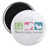 Peace, Love, Scotties Magnet
