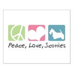 Peace, Love, Scotties Small Poster