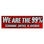 We Are The 99 Percent bumper sticker