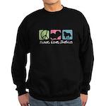 Peace, Love, Shelties Sweatshirt (dark)
