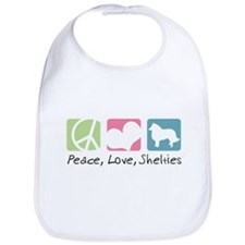 Peace, Love, Shelties Bib