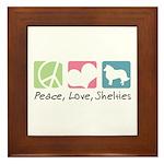Peace, Love, Shelties Framed Tile