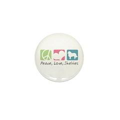 Peace, Love, Shelties Mini Button (10 pack)