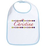 Christina with Flowers Bib