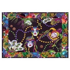 Cute Mardi gras Wall Art