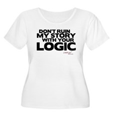 My Story... Your Logic Women's Plus Size Scoop Nec