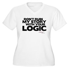 My Story... Your Logic Women's Plus Size V-Neck T-