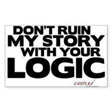 My Story... Your Logic Rectangle Sticker (10 pack)