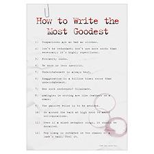 How to Write Most Goodest 11x17,SloppyTypist