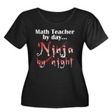 Math Teacher Ninja Women's Plus Size Scoop Neck Da