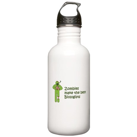 Zombies Make the Best Biologists Water Bottle