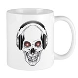 Red Eye DJ Skull Small Mug