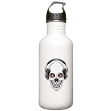Red Eye DJ Skull Water Bottle