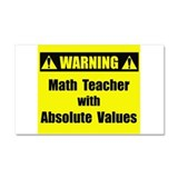 WARNING: Math Teacher 2 Car Magnet 20 x 12