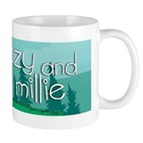 Ozy and Millie: walking and t Small Mug