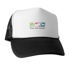 Peace, Love, Spinones Trucker Hat