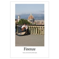 Firenze's Campanile and Musician