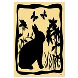 SPRING BUNNY SILHOUETTE