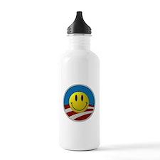 Obama Smiley Logo Sports Water Bottle