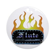 Fire Plaque Flute Ornament (Round)