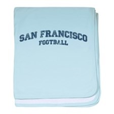 San Francisco Football baby blanket