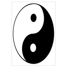 Cute Yin yang Wall Art