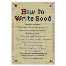 How to Write Good 23x25 , Embroidery Sampler