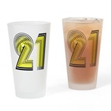 21! 21st Birthday Gifts! Drinking Glass