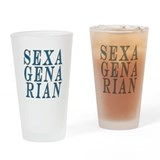 Sexagenarian, 60 Gifts Drinking Glass
