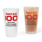 100th Birthday Drinking Glass