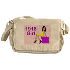 1918 Birthday Girl Messenger Bag