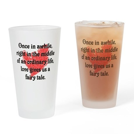 Fairy Tale Love Drinking Glass