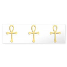 Golden Ankh Bumper Sticker