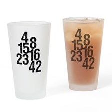 Eroded LOST Numbers Drinking Glass
