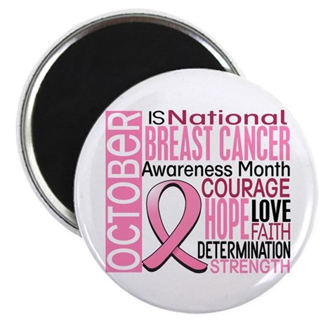 "Breast Cancer Awareness Month 2.25"" Magnet (100 pa"