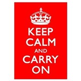 Cute Keep calm carry on Wall Art