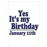 January 11th Birthday