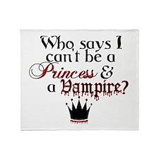 Princess Vampire Throw Blanket