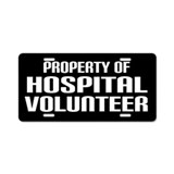 Hospital Volunteer License Plate