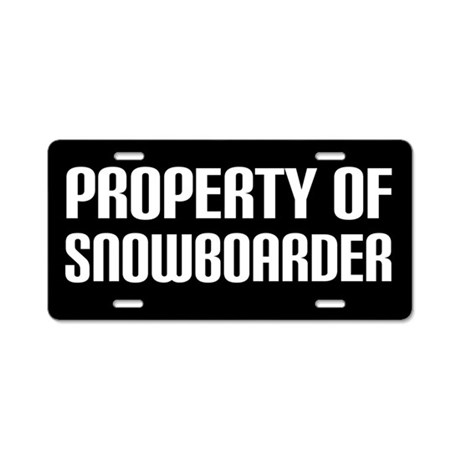 Snowboarder License Plate