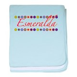 Esmeralda with Flowers baby blanket