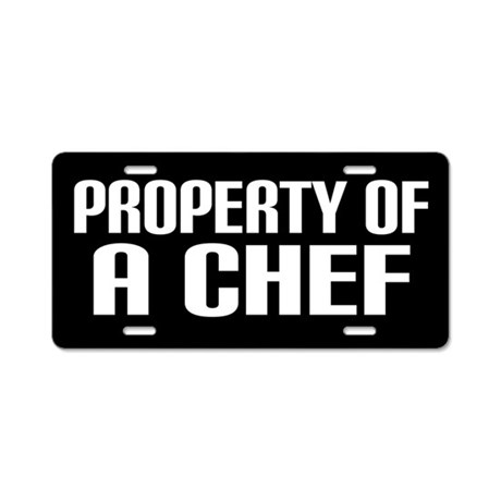 Chef License Plate Gift