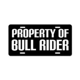 Bull Rider License Plate