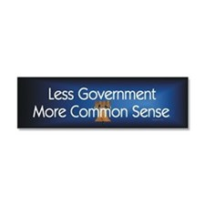 Less Government Car Magnet 10 x 3