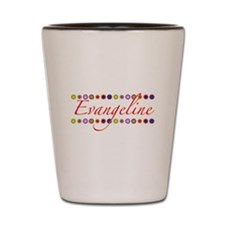 Evangeline with Flowers Shot Glass