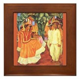 Diego Rivera - Baile Art Tile Framed Tile