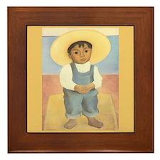 Diego Rivera Nino Ignacio Art Tile Framed Tile