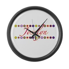 Joselyn with Flowers Large Wall Clock